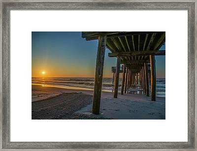 32nd Steet Pier  - Avalon New Jersey Sunrise Framed Print by Bill Cannon