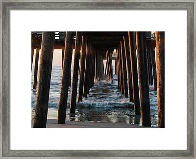 32nd Street Beach Avalon - Under The Pier Framed Print by Bill Cannon
