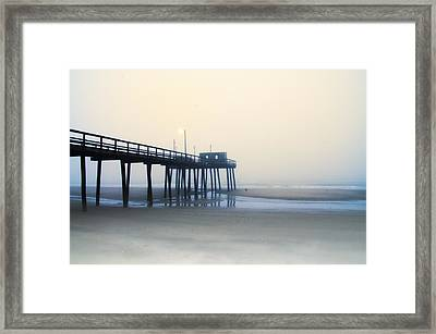 32nd Street Pier In The Fog Framed Print by Bill Cannon