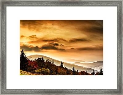 Allegheny Mountain Sunrise Framed Print by Thomas R Fletcher