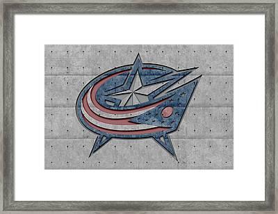 Columbus Blue Jackets Framed Print by Joe Hamilton
