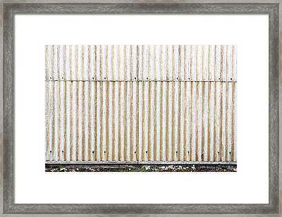 Metal Background Framed Print by Tom Gowanlock