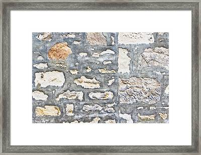 Stone Wall Framed Print by Tom Gowanlock