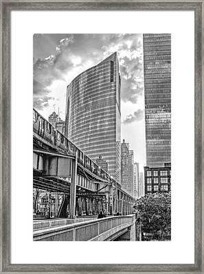 333 W Wacker Drive Black And White Framed Print by Christopher Arndt