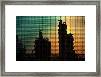 333 Wacker Reflecting Chicago Framed Print by Steve Gadomski