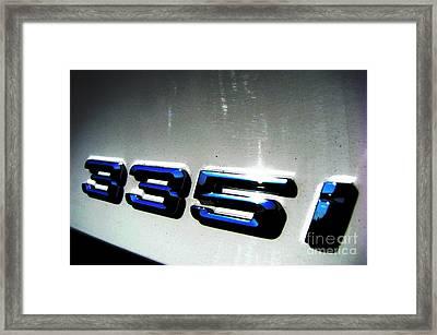 335i Framed Print by Amanda Barcon