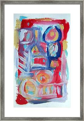 Abstract On Paper No. 31 Framed Print by Michael Henderson