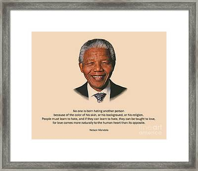 34- No One Is Born Hating Framed Print by Joseph Keane