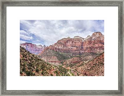 Zion Canyon National Park Utah Framed Print