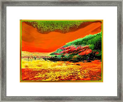 34g   Beach After A Storm Framed Print by Ed Immar