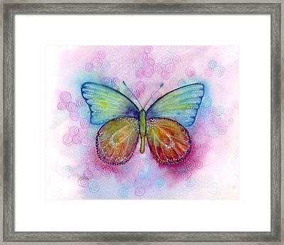 35 Blessings Butterfly Framed Print