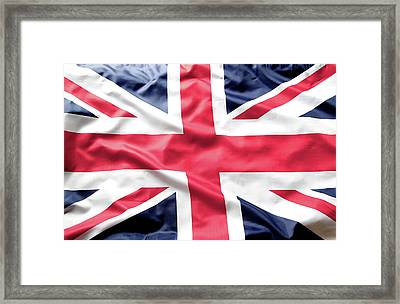 British Flag Framed Print by Les Cunliffe