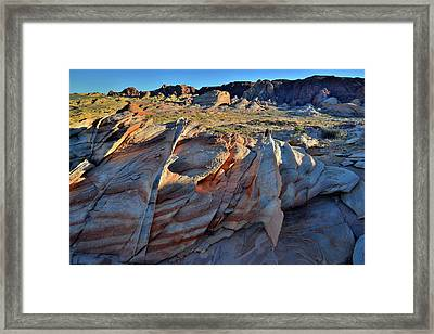 Framed Print featuring the photograph Colorful Sandstone In Valley Of Fire by Ray Mathis