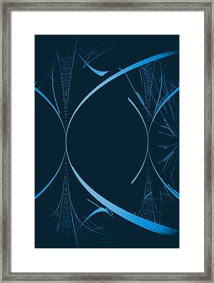 35 In Blue Framed Print