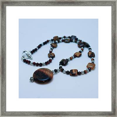 3516 Tiger Eye Necklace  Framed Print