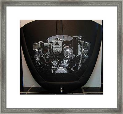 356 Porsche Engine On A Vw Cover Framed Print