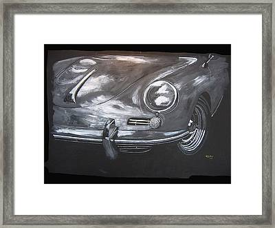 Framed Print featuring the painting 356 Porsche Front by Richard Le Page
