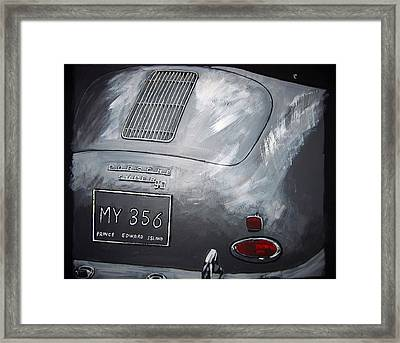 356 Porsche Rear Framed Print