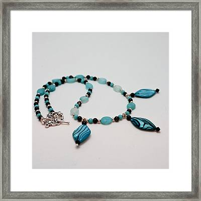 3564 Shell And Semi Precious Stone Necklace Framed Print by Teresa Mucha