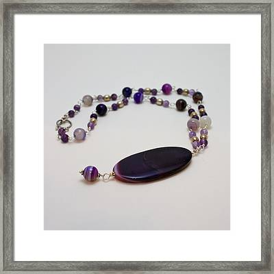 3573 Banded Agate Necklace  Framed Print by Teresa Mucha
