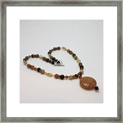3574 Coffee Onyx Necklace Framed Print