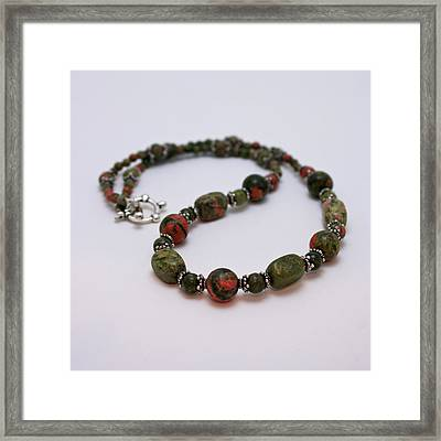 3579 Unakite Necklace  Framed Print by Teresa Mucha