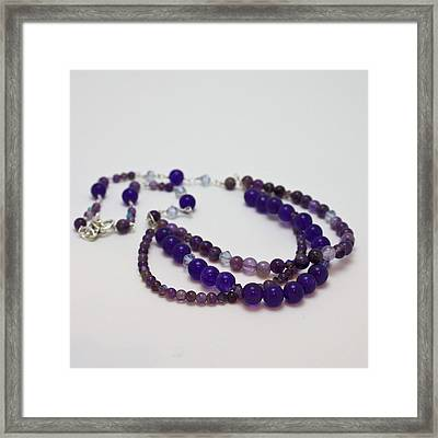 3580 Amethyst And Adventurine Necklace Framed Print by Teresa Mucha