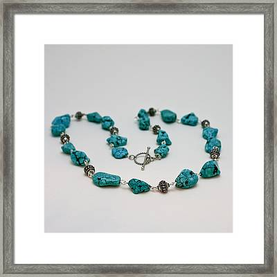 3599 Turquoise Necklace Framed Print by Teresa Mucha