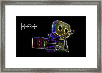 Framed Print featuring the digital art 35mm Panavision by Aaron Berg