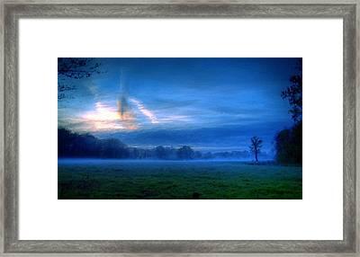 A Landscape Drawing Framed Print