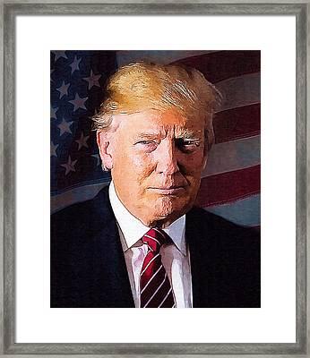 Donald Trump Framed Print by Elena Kosvincheva