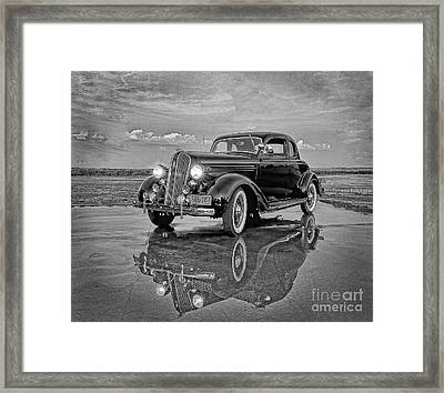 36 Plymouth Reflections Pencil Sketch Framed Print