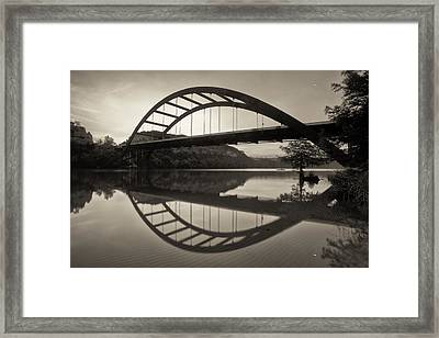 360 Bridge Morning In Sepia Framed Print by Rob Greebon