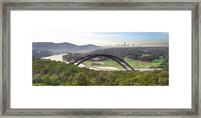 360 Bridge Near Austin Texas Morning Panorama 1 Framed Print