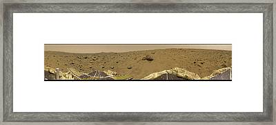 Framed Print featuring the photograph 360 Degree Panorama Mars Pathfinder Landing Site by Artistic Panda