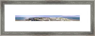 360 Panorama Of Sandy Neck Framed Print