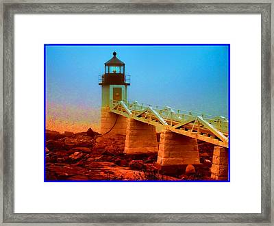 3600001  Maine Lighthouse Framed Print by Ed Immar