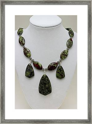 3602 Dragons Blood Jasper Necklace Framed Print by Teresa Mucha