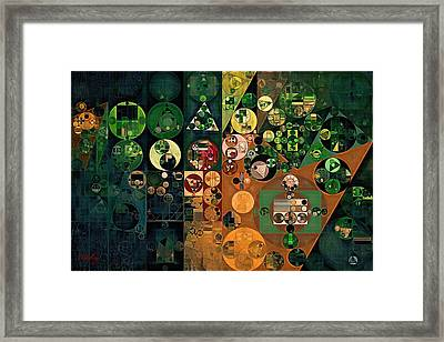 Abstract Painting - Dark Jungle Green Framed Print by Vitaliy Gladkiy