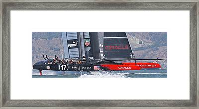 America's Cup Oracle Framed Print by Steven Lapkin