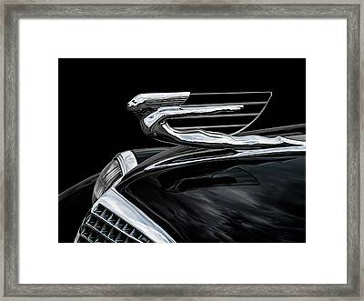 37 Cadillac Hood Angel Framed Print