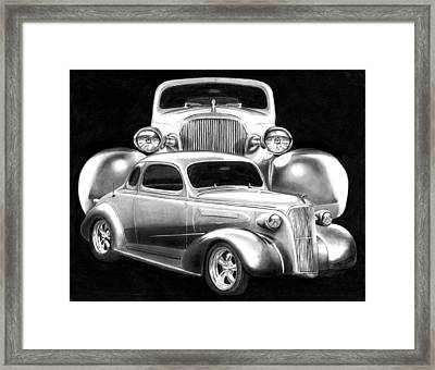 37 Double C Framed Print by Peter Piatt