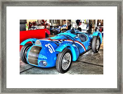 Delahaye Fast From The Front Framed Print