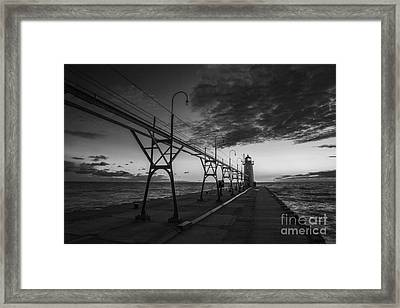 South Haven Light Framed Print by Twenty Two North Photography
