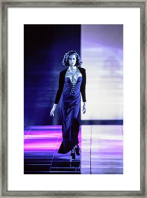 Versace Fall 1991 Rtw Show Framed Print by Guy Marineau