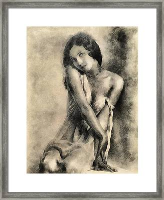 Vintage Pinup By Frank Falcon Framed Print by Frank Falcon
