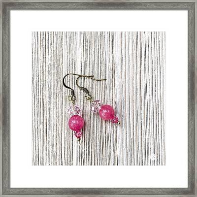 3727e Pretty In Pink Pierced Earrings Framed Print