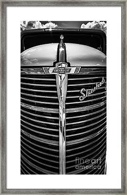 38 Chevy Truck Grill Framed Print