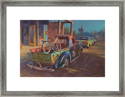 38' Ford In Jerome, Az Framed Print