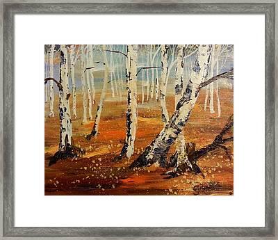 #38 Last Leaves Framed Print